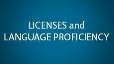 licenses and language proficiency